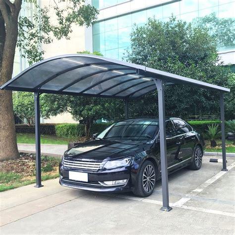 Carport Aluminium Avec éclairage Autonome 18 M² 371x74x6
