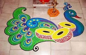 15 peacock rangoli designs for diwali | Image | Fullimage