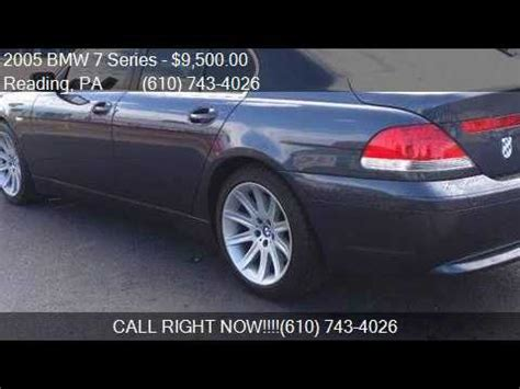 2005 Bmw 7 Series 745i 4dr Sedan For Sale In Reading, Pa