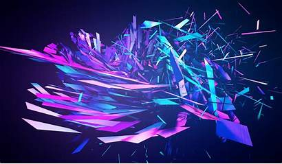 Abstract Purple Cool Graphic Desktop Computer Anime