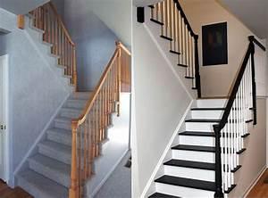 escalier peint 16 idees peinture escalier bricobistro With kitchen colors with white cabinets with poser du papier peint intissé