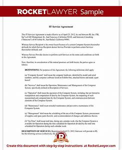 managed services agreement template it service contract With agreement to provide services template