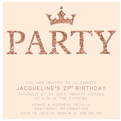 birthday invitation card template for adults gold digital printable birthday invitation template