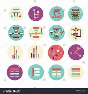 Set Of Diagram  Block Scheme  Chart Icons  Vector Simple