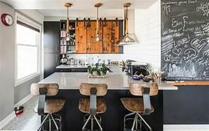 Cuisine Style Industriel Bois : cuisine style industriel une beaut authentique ideeco ~ Teatrodelosmanantiales.com Idées de Décoration