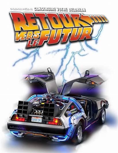 Delorean Votre Futur Vers Retour Construire Future