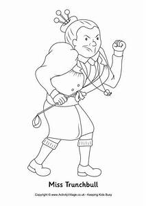 Miss Trunchbull Colouring Page Language Arts And Handwriting
