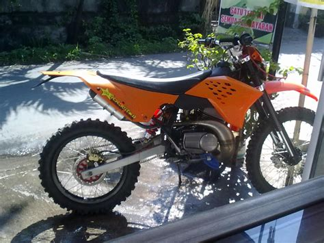 Modivikasi Motor Mx by 88 Modifikasi Motor Trail Yamaha Scorpio Modifikasi Trail