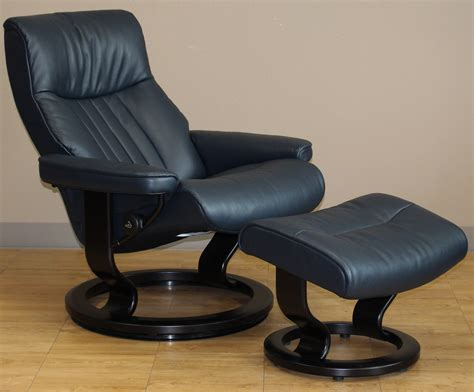 stressless crown cori blue leather by ekornes stressless