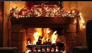 Christmas Fireplace Wallpaper For Computer