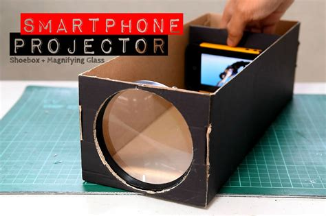 diy smartphone projector make your own smartphone projector with a shoebox and