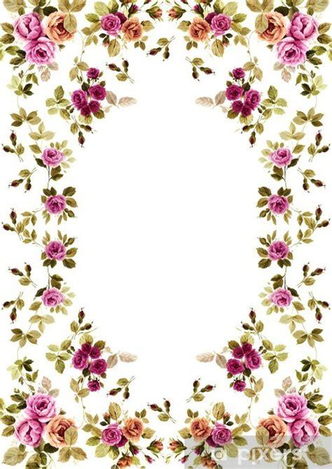 cornici fiori adesivo cornice fiori a sfondo bianco pixers 174 viviamo