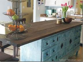 how to an kitchen island hometalk how to turn a dresser into a kitchen island