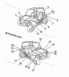 Polaris Side By Side 2018 Oem Parts Diagram For Body