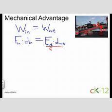 Mechanical Advantage Youtube