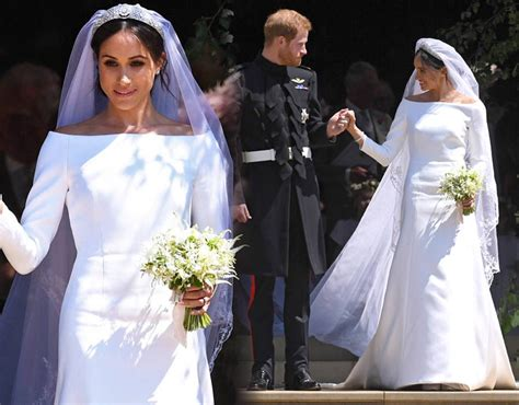 Markle Wedding Dress :  Kate Middleton And Meghan's