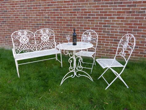 2 seater loveseat metal garden bench 2 chairs with