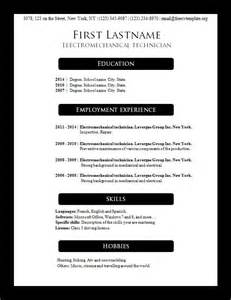 resume template word free download 2016 microsoft free cv templates 156 to 162 freecvtemplate org