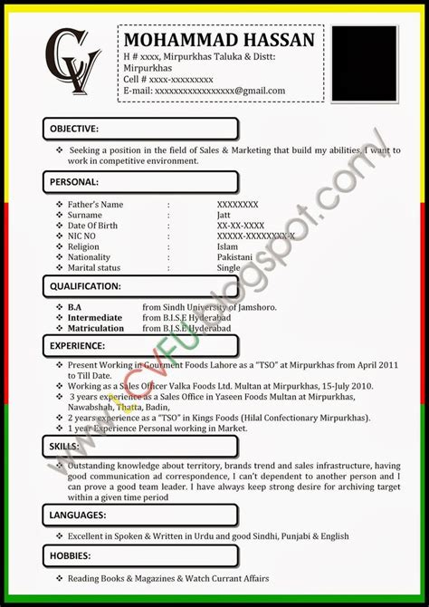 New Resume Format by Curriculum Vitae New Zealand Format Resume Exles Cv