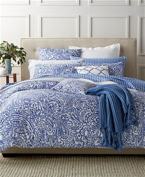 Macys Bedding by Charter Club Damask Designs Paisley Denim Bedding