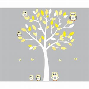 20 top yellow grey wall art wall art ideas for Best 20 white tree decal for nursery wall