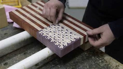 making   flag  grain cutting board version