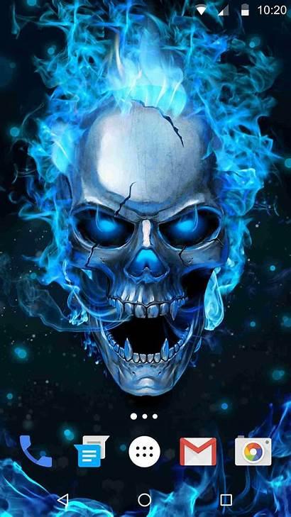 Skull Flaming Phone Android
