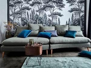 Coussin Velours Bleu Canard : une touche de bleu canard dans le salon joli place ~ Teatrodelosmanantiales.com Idées de Décoration