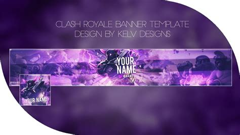 Clash Royale Thumnail Template by Clash Royale Free Youtube Banner Template Avatar