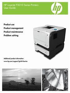 Hp Laserjet P3015 User Manual
