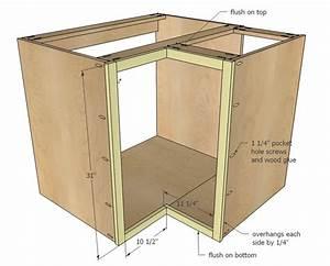 "Ana White Build a 36"" Corner Base Easy Reach Kitchen"