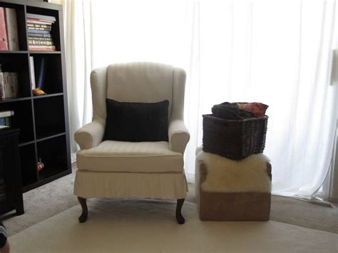 awesome chair slipcover  wingback chair  home