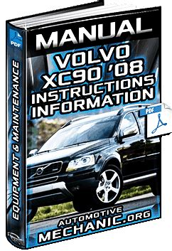 owners manual  volvo xc equipment instructions