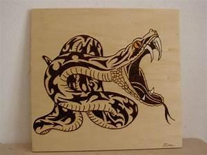 Pyrogravure Sur Bois Professionnel : serpent tribal pyrogravure cr ation pyrogravure de mime1953 n 47 729 vue 4 507 fois ~ Nature-et-papiers.com Idées de Décoration