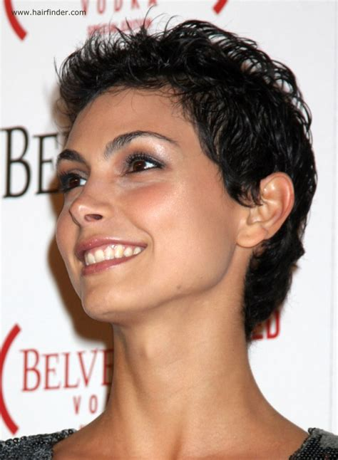 Morena Baccarin   Very short trendy pixie haircut for