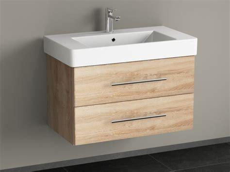 badmöbel massivholz eiche waschtisch mit unterschrank 80 cm bestseller shop f 252 r m 246 bel und einrichtungen