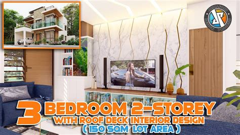 storey  roof deck house design  sqm lot area exterior interior animation youtube
