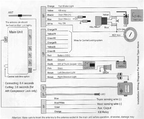 steelmate car alarm wiring diagram wiring diagram and