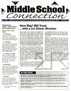 newsletter connects middle school parents  schools