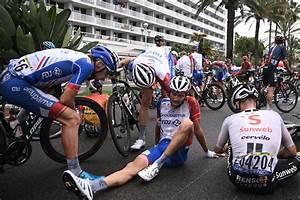 thibaut pinot 39 annoyed 39 after crash in closing kilometres