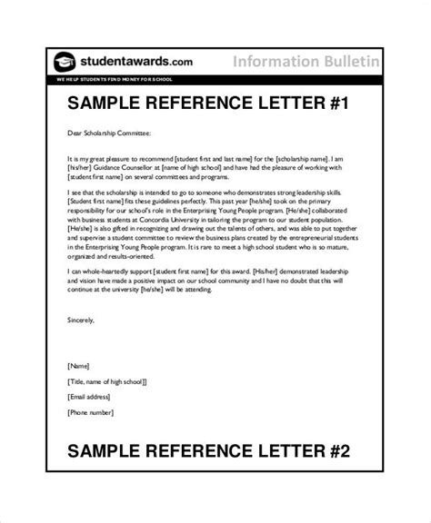 letter of recommendation for high school student 7 student reference letter templates free sles 9929