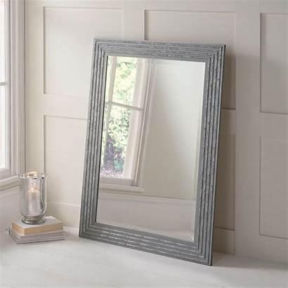 Mirror Wall Silver Decorative Grey Decor Homesdirect365