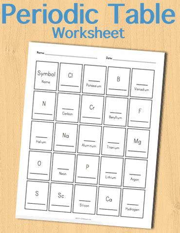 Periodic Table Worksheet  Customizable  Stem Sheets