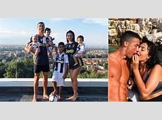 Cristiano Ronaldo con Georgina Rodriguez e i suoi quattro