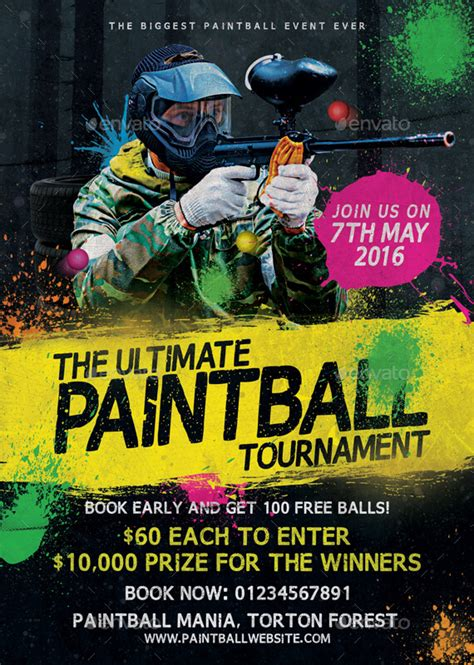 paintball tournament flyer template  mattm graphicriver