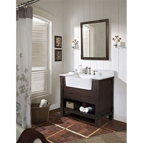 fairmont designs  napa farmhouse vanity aged cabernet