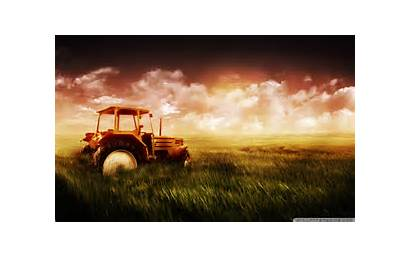Tractor Field Wide Wallpapers Background