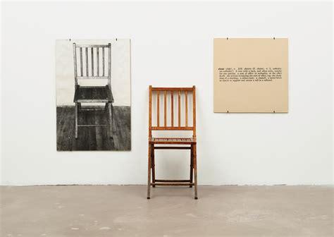 Joseph Kosuth One And Three Chairs Dimensions by Joseph Kosuth Nicholas Huggins