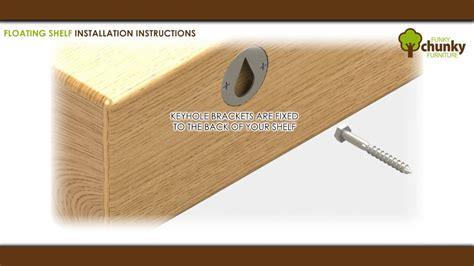 fit  floating shelf  keyhole brackets