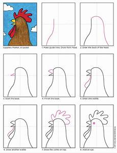 How To Draw A Rooster Head